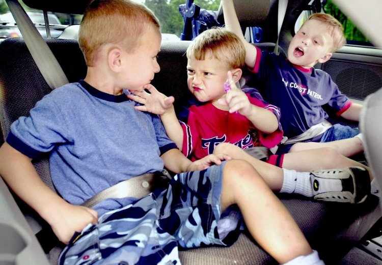 Kids in backseat